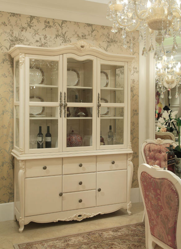 Exceptional Luxury French Style Wooden Buffet Classic Cupboard