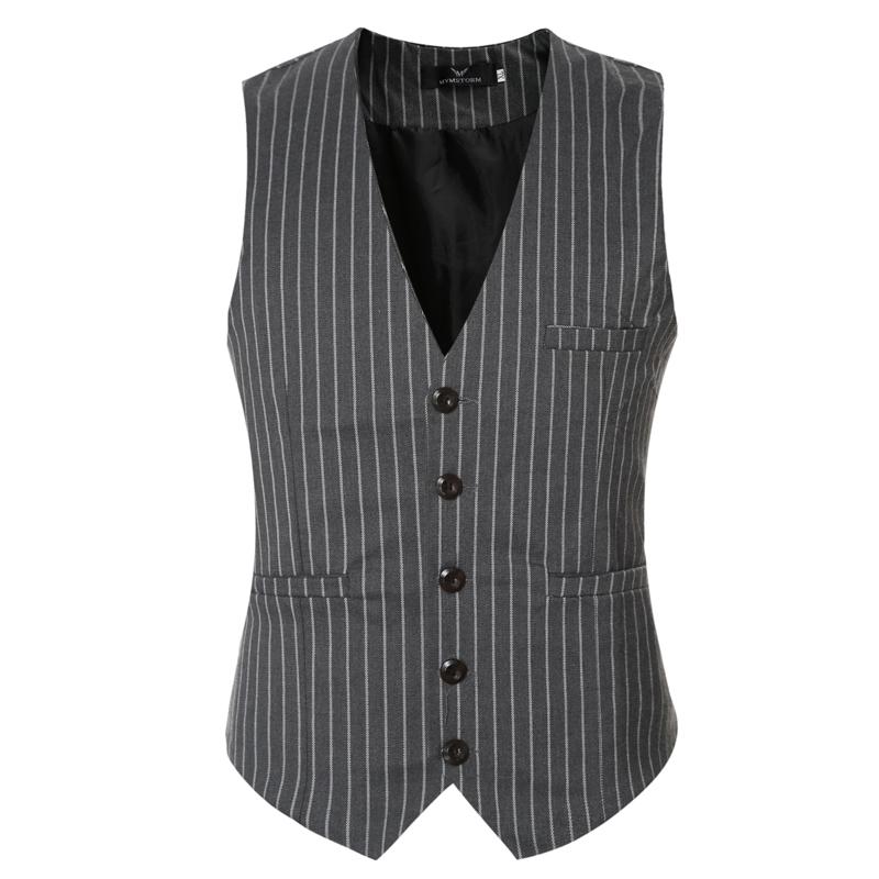 58406aeae93 Wholesale- 2016 famous brand slim fit striped dress vests for men good  qaulity mens suit vest male waistcoat casual size 3xl