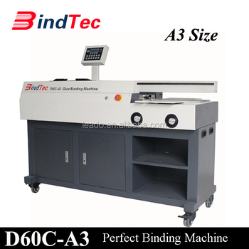 BD-D60C-A3 Wholesale Hot Selling Book Binding Machine A3 Perfect Glue Binder
