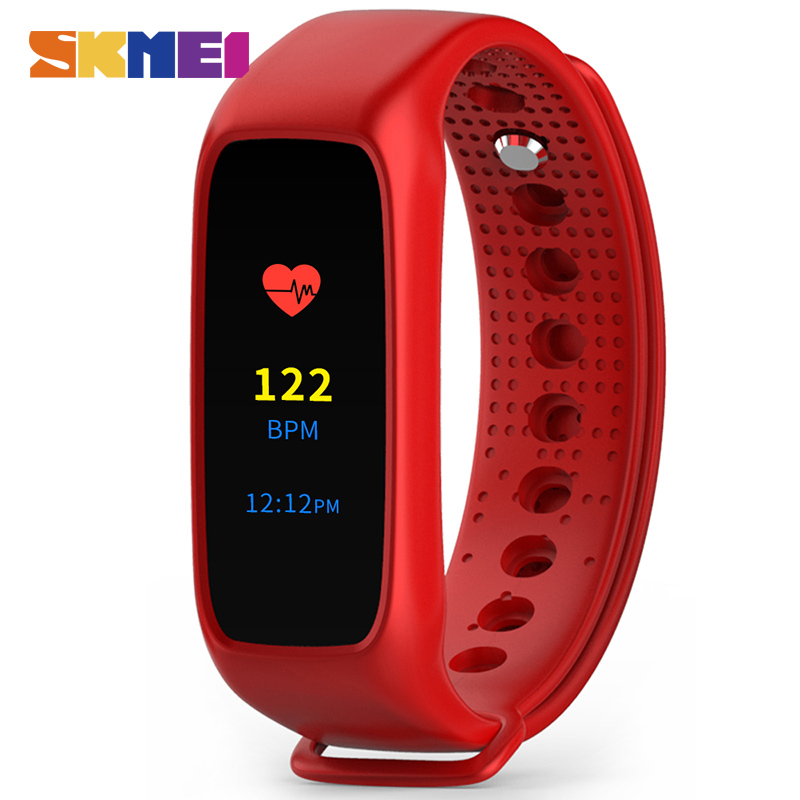 SKMEI L30T Men Women Smart Wristband LED Color Touch Screen Sport Watch Fitness Tracker Heart Rate Monitor Man Digital Watches