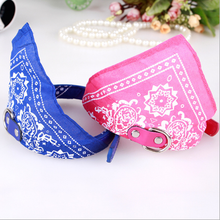 Hot Sale PU Leather Printing Folk Style Pet Triangle Cooling Towel Collar