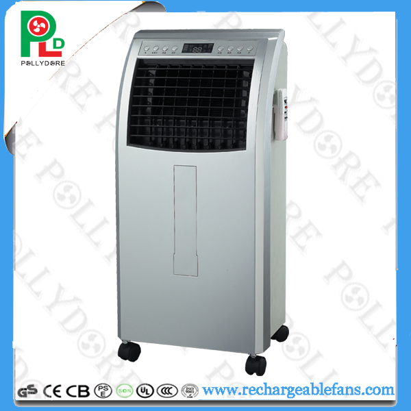 Solar Air Cooling Fan, 12V Air Cooling Fan, Water Air Cooler with Remote Control