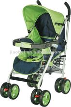 green European type iron tube baby jogger pram pushchair jogging umbrella stroller buggy 307 with removable dinnig tray