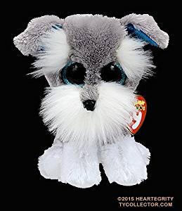 1168d239c27 ... Toy Animal   Stuffed   Plush Animal. New Original TY Beanie Boos Big  Eyed WHISKERS -Grey Schnauzer Dog Stuffed Animals Dolls For