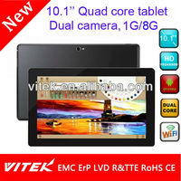 China supplier quad core wifi tablets 10 3g android 4.0