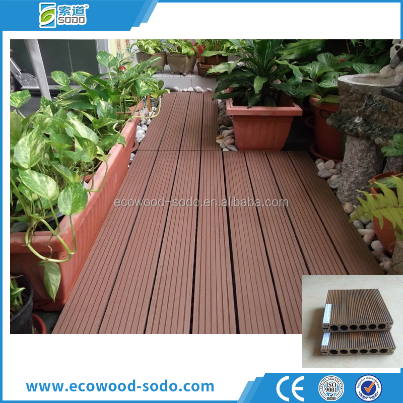 no formaldehyde durable pvc flooring laminated wood decking wpc decking in foshan for garden,park,port,trestle crane,terrace