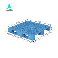 1200*1000mm euro standard size vented top single faced PP HDPE plastic pallet for agricultural or pharmaceutical industries use