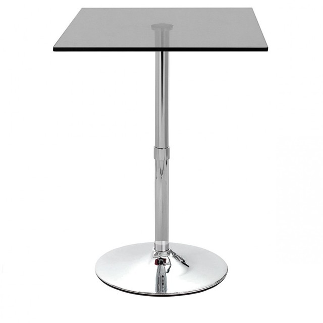 hot sale modern adjustable height tempered glass bar cocktail table