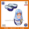 metal tin decorative russian dolls for sweet packaging