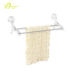OEM/ODM Guangdong Factory Bathroom Wall Mounted Suction Cup Rack Plastic Double Towel Bar