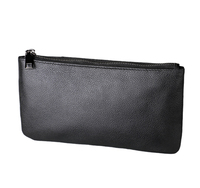 British style RFID leather zipper with mobile wallet