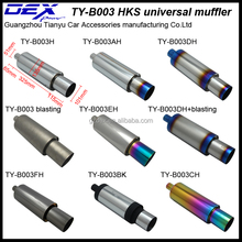 auto racing stainless steel hks exhaust pipe muffler