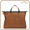 China wholesale promotional business briefcase genuine leather document handabg goat leather tote bag for men