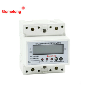 High Quality Gomelong Single Phase Din Rail Type Modbus Rs485 Wireless Smart Energy Meter