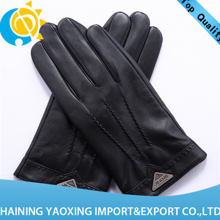 New arrival goatskin leather work <strong>gloves</strong> for youth manufacturer