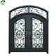 French style front designs wrought iron glass exterior folding casement doors for building materials
