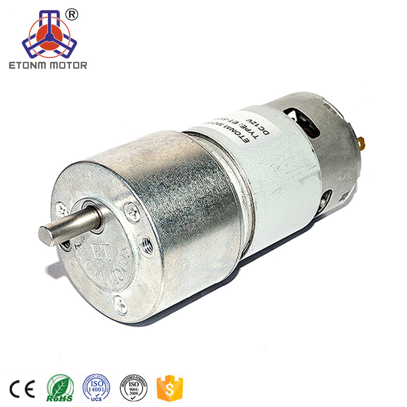 CE, RoHs approval dc gear motor encoder 110:1 high torque low speed gear motor 50mm