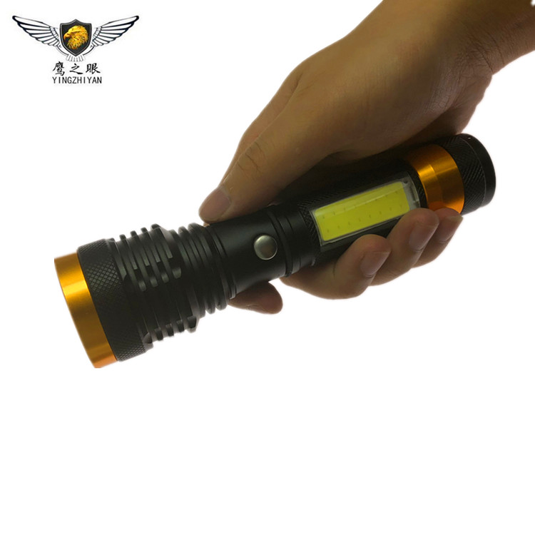 Customized Police Traffic baton 500 lumen XPE Waterproof Powerful Tactical USB Rechargeable Police Flashlight Led Torch
