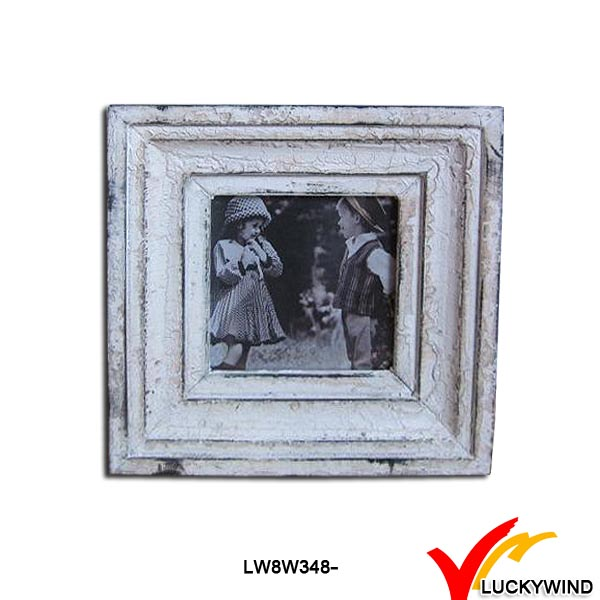 Chic Free Standing Square Plywood Wooden Photo Frames Small