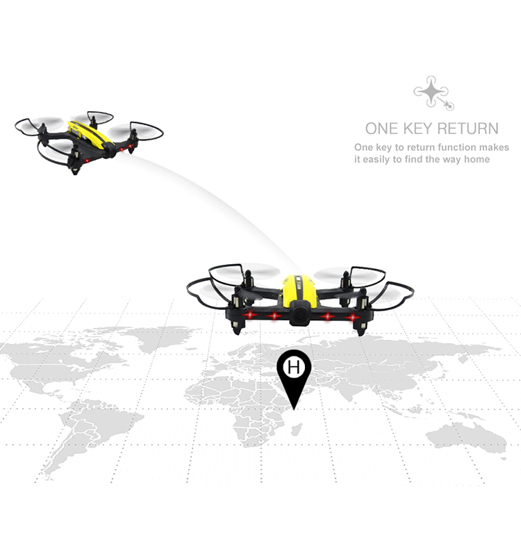 Flytec T18  Racing Beginner RC Drone  Mini Drones Toys  RTF Yellow RC Quadcopter Drone With Wifi FPV Wide Angle  720P Camera