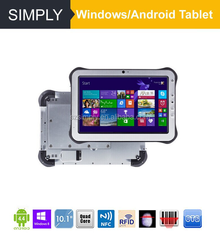 Simply T10 10 inch IP65 tablet lte with android/windows 10000MAH 32GB+2GB 5MP+2MP NFC reader 1D/2D barcode scanner