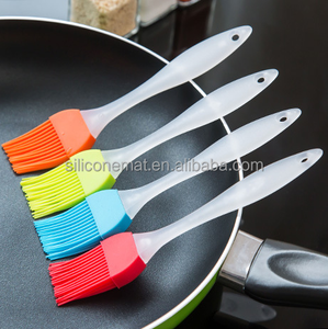 Food Grade silicone basting brush BBQ Cooking Oil Brush with Plastic Handle
