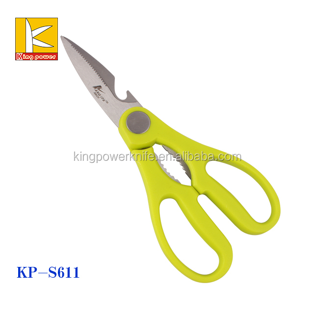 Premium Heavy Duty coating blade Kitchen Shears and Multi Purpose Scissors with pincers