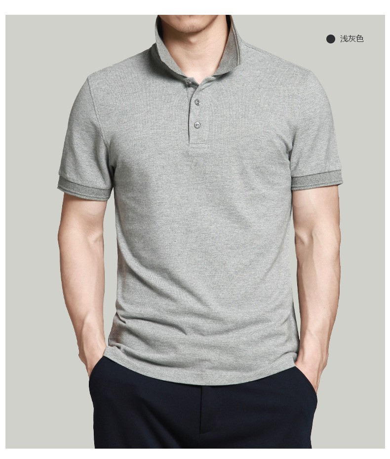 Blank Summer Short Sleeve Men's Fashion Polo Shirt Form China Supplier Dry Fit Polo T-shirt Gogging Polo Shirt Sport Garment