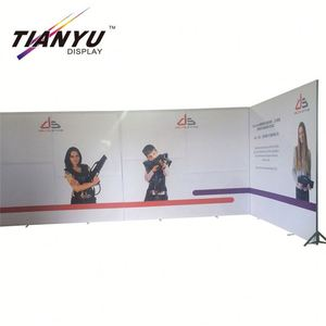 High Quality Custom Aluminum Portable Exhibition Stall Trade Show And Advertising Freestanding Portable Indoor Tension Fabric