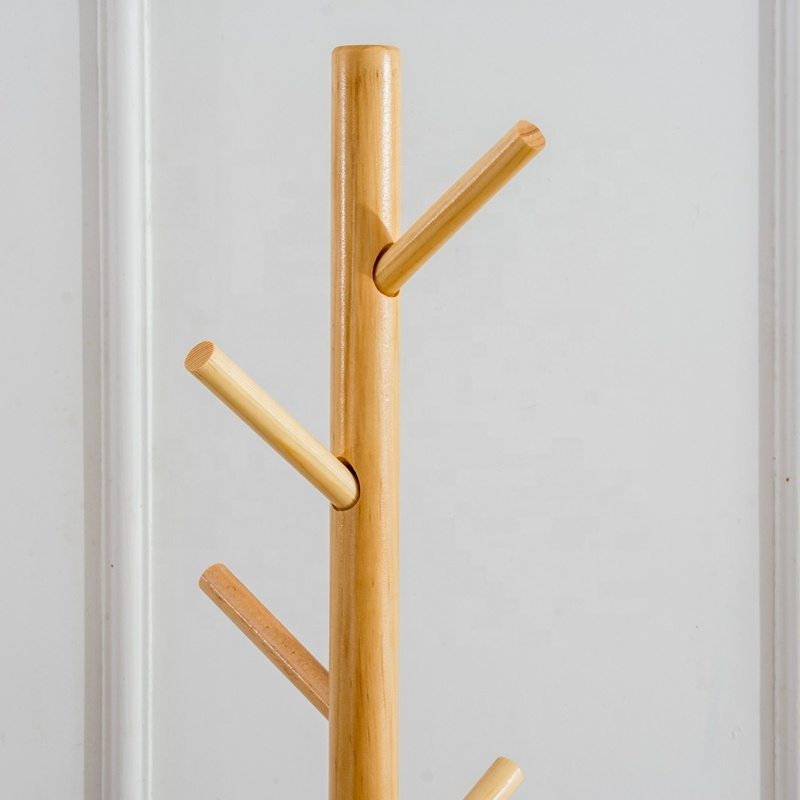 FSC wooden coat hanger rack manufacturer