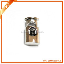 High quality custom sliver metal draw cord stopper for clothing