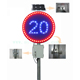 SOLARROAD RS-720 Traffic Warn Signs LED Solar Traffic Light for Speed Limit Sign