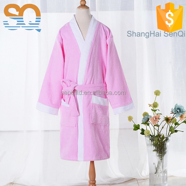 Wholesale children organic 100% cotton terry bathrobe