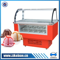 Small ice cream freezer with LED light