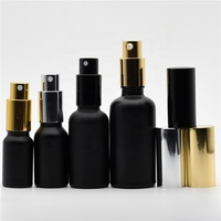 Free Samples 30ml 50ml 100ml Matt Black Glass Frosted Perfume Bottle with Pump Spray Cap