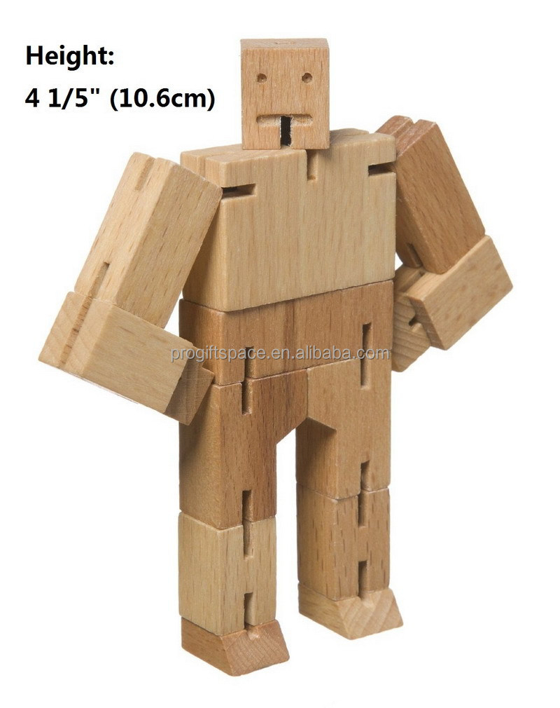 2018 promotional unique hot sale China puzzle gift craft wholesale custom children <strong>wood</strong> ornament make handmade wooden robot toy