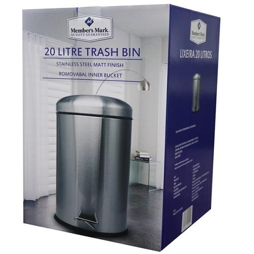 SML 2 * 15L Edelstahl Schritt Müll und Recycling Bin Dual Mülleimer Müll und Recycle bin Combo für küche, büro, Zu Hause