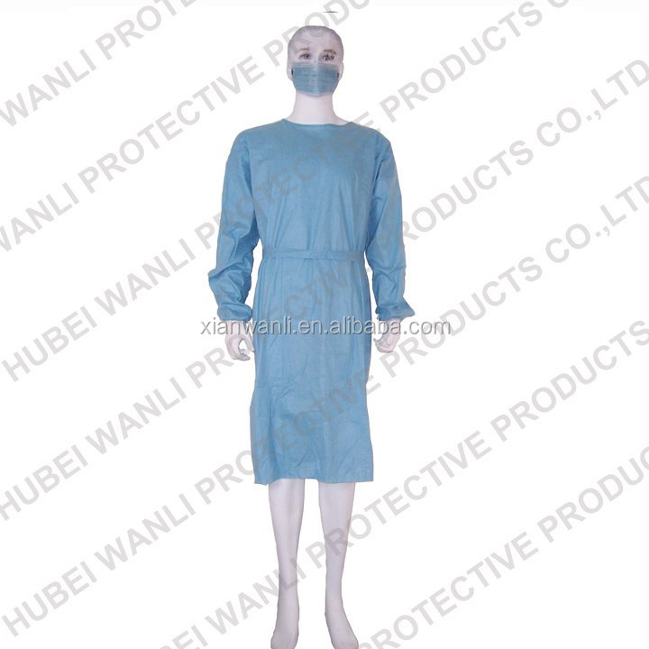 PP+PE surgical gown ,waterproof surgical gown for operating room,Disposable nonwoven doctor uniform