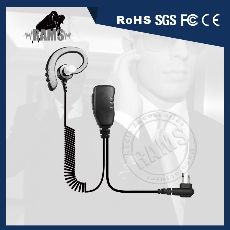 Zwei Draht Spiralkabel Comminication Hörer Security Guard Ohrhörer ...