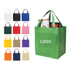 Super September sale customised logo christmas image pictures printing non woven fabric carry bag
