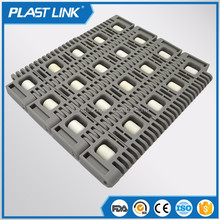 Plast link transmission belt 360 degree rotating fruit conveyor 400 cross roller top