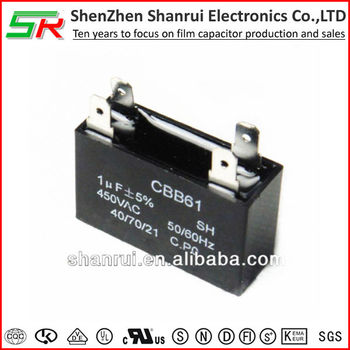Factory Price Cbb61 1uf 450v Sk Ceiling Fan Capacitors