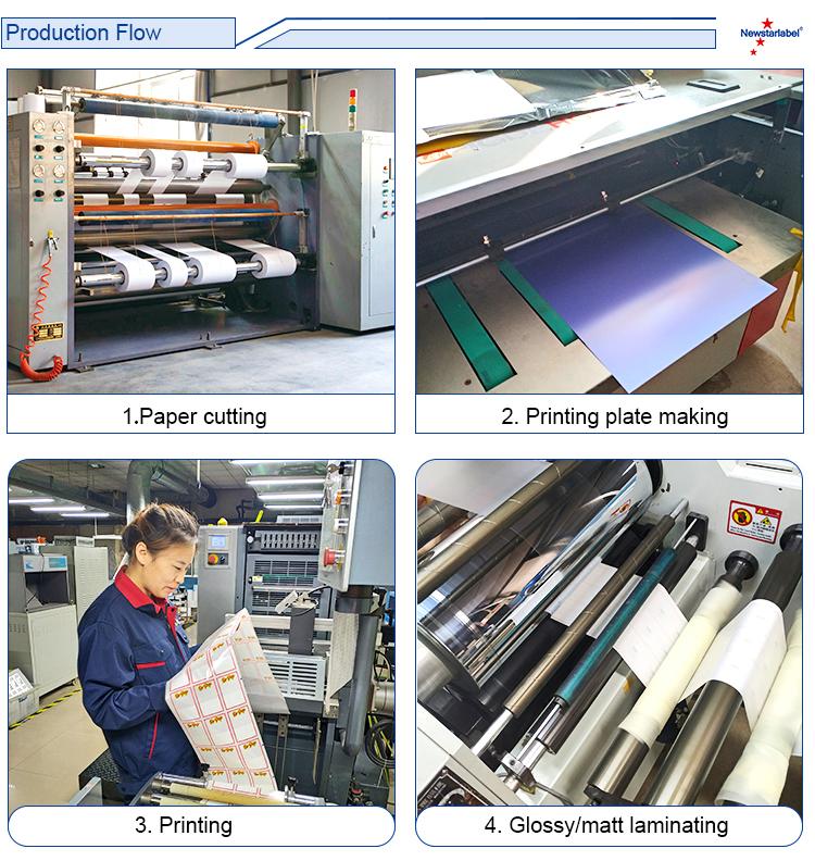 16 년 공장 고품질 사용자 정의 빈 접착제 A4 인쇄 종이 스티커 라벨
