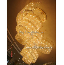Hotel project use large modern crystal chandelier