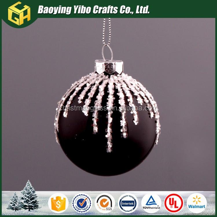 2018 Black Christmas Ball Decorations - Buy Black Christmas Balls ...