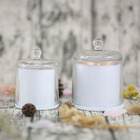 Unique design lovely gift box dome glass jar natural soy wax home decoration scented candle