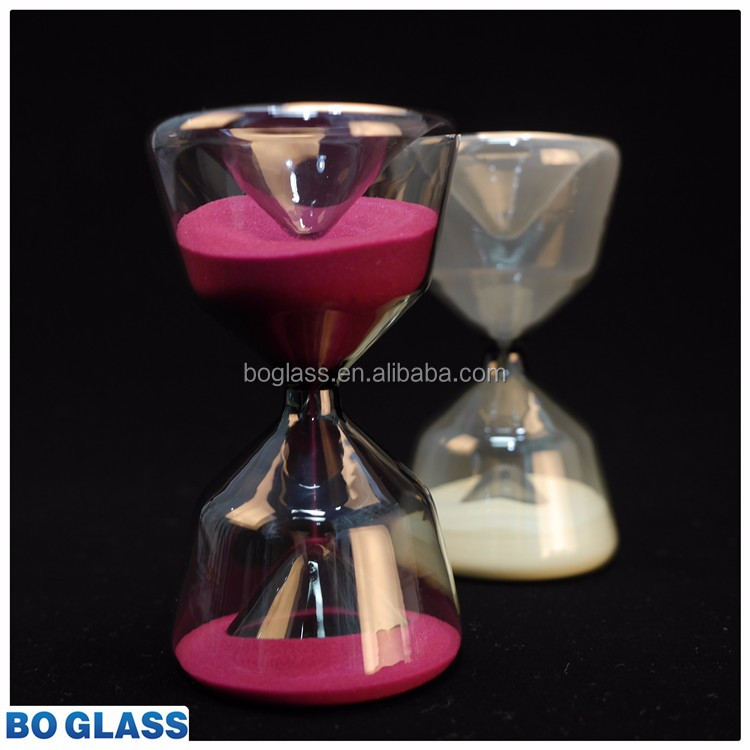 Gorgeous Large Clear Hourglass With Black Sand. Hourglass ...