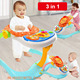 wholesale unique baby walker Learning toys Safe Plastic 3 In 1 Multifunction Toddler Unique Musical Round Baby Walkers
