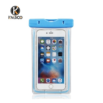 Waterproof Mobile Phone bags Clear PVC+ABS Fluorescence Bags Water Proof for iPhone Samsung Phone Mobile Phone bags & cases