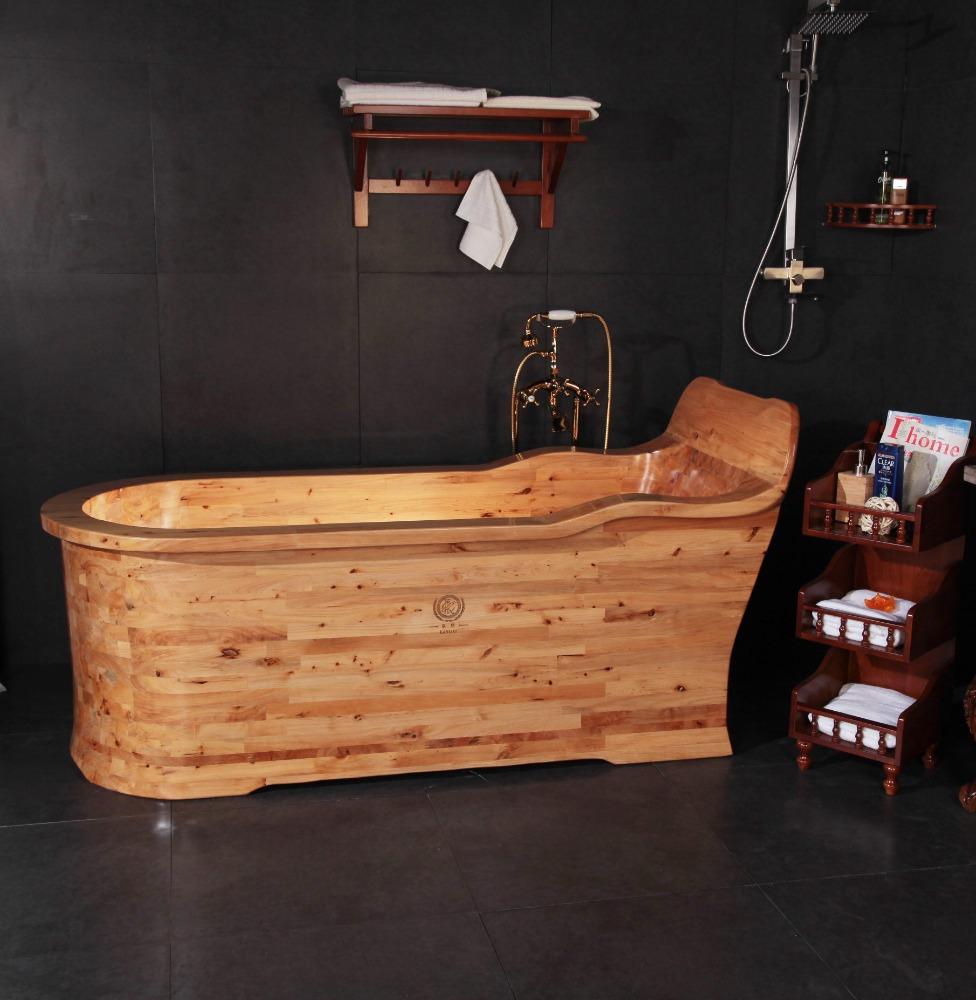 Unique néerlandais baignoire en bois spa bain Japonais tremper ...